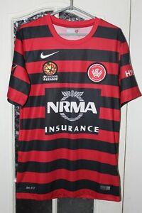 Western Sydney Wanderers FC 2014 2015 Home Nike Australia Shirt Jersey Size S