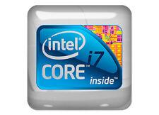 "Intel i7 inside 1""x1"" Chrome Domed Case Badge / Sticker Logo"