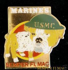 US MARINES BULLDOG HAT PIN USMC FMF USS MCRD MCAS MCB CHESTY SEMPER FI MACMR