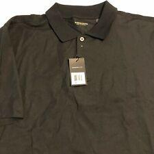 Ashworth Mens Performance Black Short Sleeve Polo Shirt Size 2XL Co Logo