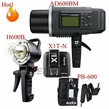 Godox AD600BM 600W 2.4G 1/8000s Studio Flash + Extra Head + X1T-N Trigger + Bag