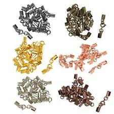 12pcs Crimp Cord Ends Clamps Clasps Bronze Clips for Jewellery Making 4mm