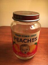 Vintage 1985 Gerber Food Peaches Jar