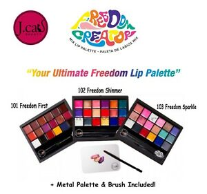 J Cat Freedom Creator Lip palette- Include Lip Brush & Mixing Palette! Lipsticks