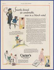 Vintage 1921 CARTER'S Knit Underwear Undergarment Fashion Ephemera 20's Print Ad