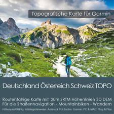 Deutschland Österreich Schweiz DACH Topo Karte Garmin - 8GB microSD PC & MAC