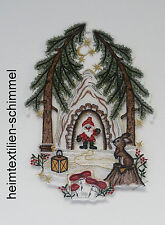 PLAUENER SPITZE ® Fensterbild WEIHNACHTEN Wald BERGGEIST Tiere WINTER Deko Neu
