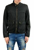 Just Cavalli Men's Black Full Zip Windbreaker Jacket US S IT 48