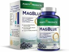 MagBlue Purity Products High Efficiency Magnesium Bisglycinate Buffered 90 Table
