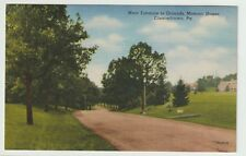 Unused Postcard Main Entrance to Grounds Masonic Homes Elizabethtown Pa