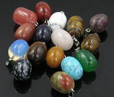 Wholesale Fashion Mixed natural stone eggs charms pendants 10pcs/lot