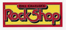 Bill Graham's Rock Shop Sticker Original Vintage