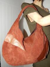 LUCKY BRAND Suede Leather Snake Print Patchwork  HOBO handbag Shoulder Bag Purse