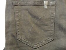 JOES JEANS WOMENS SKINNY ANKLE W/ LEATHER BLACK LEGGING JEAN PANTS SIZE 26 NEW