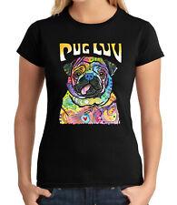 Pug Love Junior'S T-shirt Mini mastiff Dog Luv Girl'S Tee - 1577C