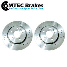 AUDI 8T A5 REAR DRILLED GROOVED BRAKE DISCS FOR COUPE 1.8 - 3.0 3.2 07-17 300mm