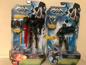 "Max Steel  6"" action figures claw blast dredd & tur-bow strike brand new"