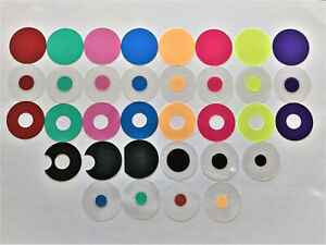 Microscope 32mm Rheinberg Filters Set With Darkfield Lighting - Marvelous Set!!!