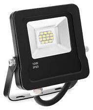 LED Außen Fluter Flutlicht Strahler Outdoor 3200K wasserdicht flach schwarz 10W