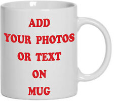 PERSONALISED MUG - With your Photo and Text Coffee Tea Gift