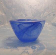 PartyLite Indulgences Blue Swirl Solitude Glass Votive Holder - P7163