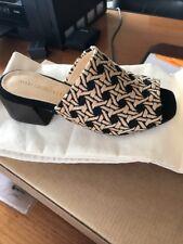 Mari Giudicelli Regia Sandal In Black And Beige Design Open Toe