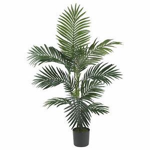 Kentia Palm Silk Tree Realistic Artificial Nearly Natural 4' Home Garden Decor