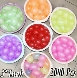 "2000 Pack of 3"" Balloon CRYSTAL BALLOONS  MIX SMALL LATEX AIR WATER BALLOONS"