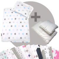 Bettwäsche-Set 4-tlg. für Kinderwagen Babybett Decke+Kissen+Füllung (STARS 12)