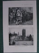 1917 WWI WW1 PRINT RED INDIAN RECRUITS FROM CANADA ~ GREAT FIRE AT OTTAWA