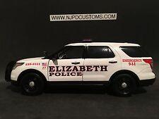 Elizabeth Police NJ 1:24 Scale Ford Explorer SUV Replica Police Car