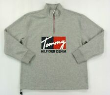 NWT Men's Tommy Hilfiger Half 1/2 Zip Mock Neck Oversize Fit Sweater Jacket
