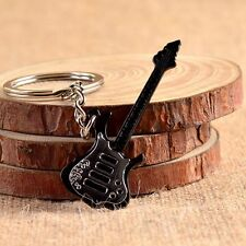 Cool Guitar Keychain KeyRing Unisex Metal Alloy Pendant Gift Present  Creative