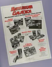 Battlestar Galactica Original UK Shop Merchandise Poster 1978 - Toys, Kits etc.