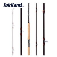 4.2m/14ft Fly Rod Carbon Fiber Stainless steel IM8 Cork Wood Handle Fishing Pole