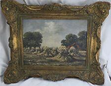 Mohr Karl 1922-2013 Gemälde Landschaft Heu / Heuernte