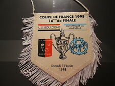 FANION WIMPEL PENNANT 1/16 COUPE  FRANCE 1998 BOULOGNE / OM MARSEILLE