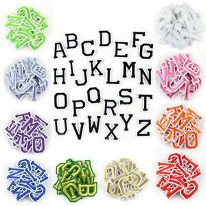 Letter Patches Embroidered Patch Letters Iron on Sew On Alphabet Clothes Crafts