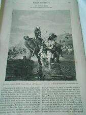 Les Anes en Orient 1856 Gravure Old Print