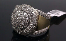 10K Men's Yellow Gold Uniquely Designed Round Shaped Ring With 2.50CT Diamond