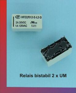 Relais bistabil HFD2-012-S-L2-D mit 2 Wechsler