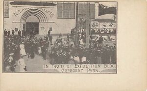 RIVERSIDE RI – Crescent Park In Front of Exposition Building – udb (pre 1908)