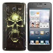 Hülle f Huawei Ascend G510 Schutz Case Cover Tasche Silikon TPU Totenkopf Skull
