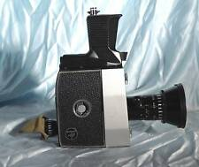 Vintage BOLEX PAILLARD P4 8mm Camera w SOM BERTHIOT PAN-CINOR f1.9 9-36mm Lens