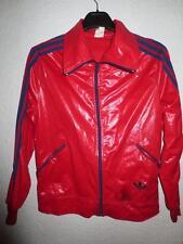 VINTAGE Veste ADIDAS rouge femme cupro jacket oldschool 70's 70er 46