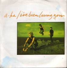 """A-HA i've been losing you uk w8594 sticker on label 7"""" PS EX/EX"""