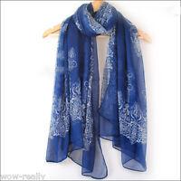 Fashion Women Long Print Cotton Scarf Wrap Ladies Shawl Girls Large Scarves
