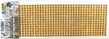 504 6mm Stick-On Amber Crafting Crystals Diamante Rhinestone Sequins