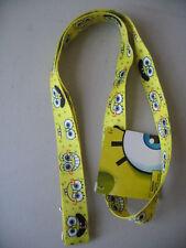 "Sponge Bob Square Pants Yellow Lanyard 18"" New Nickelodeon"