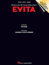 Evita Selections The Motion Picture Learn to Play Piano Vocal Guitar Music Book